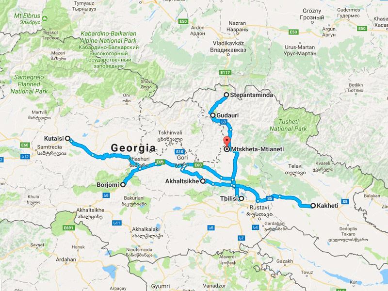 map-Entdecken Sie Georgien