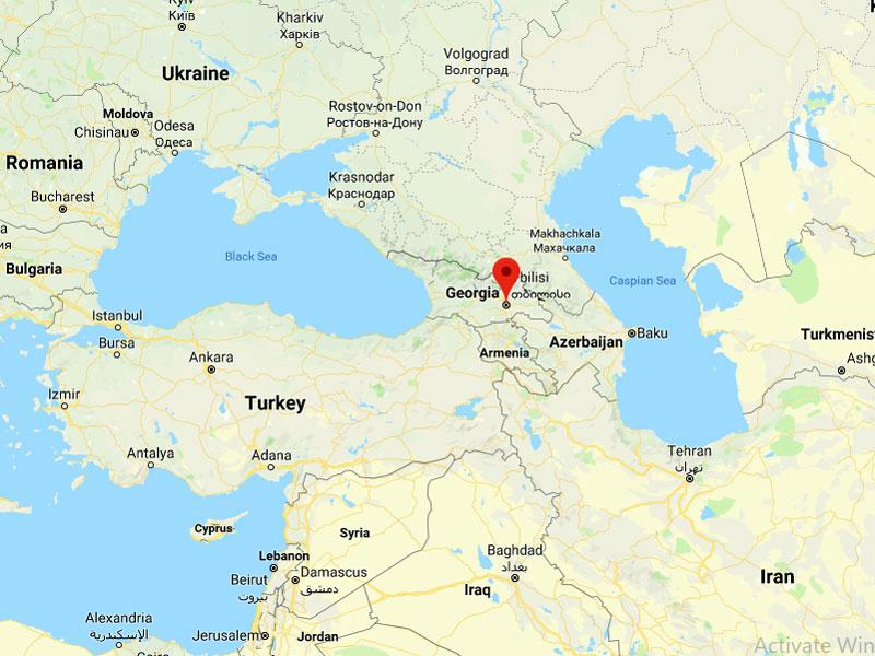 map-Reise durch Georgien mit Ankunft in Kutaissi