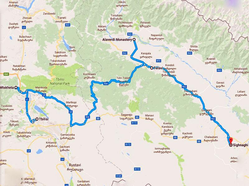 map-Circuit autour du vin en Géorgie